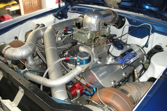 Gordon Bishops Rambler Engine with twin 80mm Bullseye Power turbos on our 509 Engine